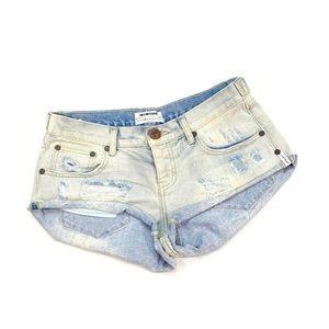 One Teaspoon Denim Shorts Size 25